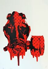 Morte NYC - (RED MASK Drip) LIMITED EDITION FIRMATA Street Art Print
