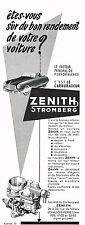 PUBLICITE  1953    ZENITH  carburateur  STROMBERG