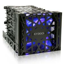 "ICY DOCK Black Vortex MB074SP-B Removable 3.5"" HDD 4 in 3 Module Cooler Cage"