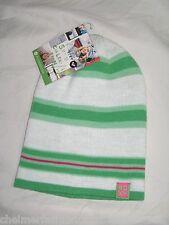 BNWT - ROXY Ladies Striped  Beanie Hat - White Green