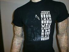 JOHNNY CASH MAN IN BLACK T SHIRT Smoking Cigarette SMALL Free USA Shipping