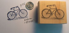 Vintage style bicycle rubber stamp WM P25