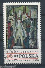 POLOGNE 1970, timbre 1882, TABLEAU BENON LIBERSKI, JOURNEE TIMBRE, oblitéré