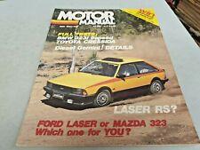 May 1981 MOTOR MANUAL Mag LASER Mazda 323 Cressida BMW 323i Ford BRONCO