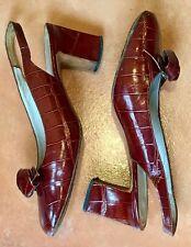 Vintage Genuine Alligator Women's Heels-7 Us (37 Europe)