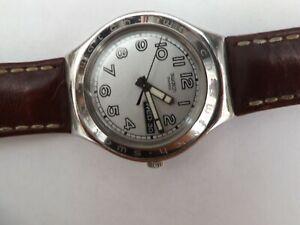 a fine stainless steel cased swatch irony watch - GWO