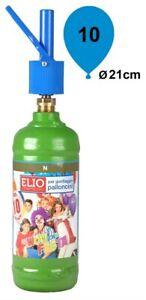 Kit Bombola Gas Elio Compreso Di 10 Palloncini 0.75Lt Per Feste Compleanni Party