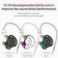 KZ ZSN Earphone In-Ear Microphone Headset Deep Bass HIFI Stereo w/ Mic