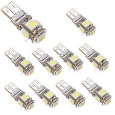 10 x Coche Bombilla Led Canbus Error Free Blanco T10 5-smd 5050 W5W 194 16