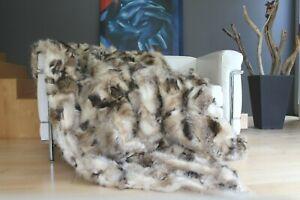 echte PELZDECKE, Pelz Decke, Natur FELLDECKE, Opossum Fell,200/220 OPON5-G200