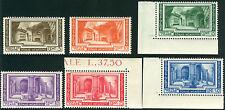 1938 Vaticano congresso archeologico 6 val. ** MNH spl angoli centrati