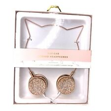 Nanette Lepore Cat Ear Shaped On-Ear Stereo Headphone Druzy Crystals Rose Gold