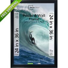 Mainstays 24x36 Casual Poster Picture Frame, Black Wall Photo