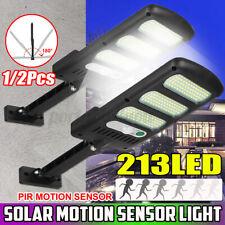 1/2x 213 LED Solar Street Wall Light PIR Motion Sensor Dimmable Lamp Garden