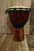 ETHICALLY SOURCED HAND MADE AND CARVED DJEMBE DRUM INDONESIA 30 CMS