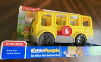 NEW Fisher-Price Little People Sit with Me School Bus , EVERYTHING WORKS PER