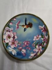 Rufous Hummingbird & Apple Blossoms - Gems Of Nature Limited Plate
