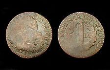 3 Deniers Francais An 4, 1792 BB (Strasbourg). Louis XVI°. Bronze. Cote B: 90€