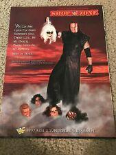 1997 WWF Merchandise Catalog Mask Action Figure UNDERTAKER BRET OWEN HART SUNNY