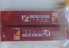 NEW CON-COR N SCALE HORIZON LINES 45' CORRUGATED CONTAINER SET