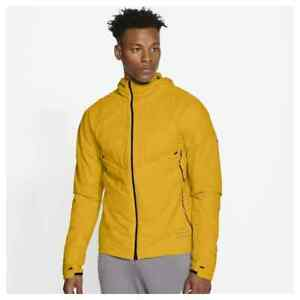 NEW Size XXL Mens Nike Run Division Yellow Hooded Running Jacket CU7889-743