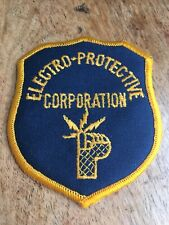 Vtg Electro Protective Corporation Sew On Embroidered Patch Guard Security 3.5�
