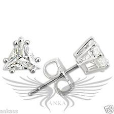 AAA Grade Triangle CZ Cubic Zircon Rhodium on 925 Sterling Silver Earrings 0W156