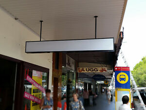 Shop awning Lightbox, Black lightbox  2400x300x150mm, 2row=4 lights, 2 acrylicvs