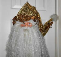 """Old World Santa Claus Christmas 37"""" Door Wall Hanging Plaque Sign Holiday Decor"""