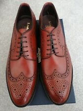 LOAKE 1880 BIRKDALE BROWN CALF LEATHER BROGUES.SIZE 10. MADE IN ENGLAND