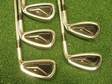 Taylormade R9 iron set RH 6,8,9,PW,SW (no 7 iron) KBS stiff steel READ & SEE ALL