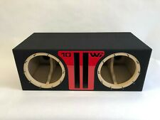 JL Audio 10W6v3 dual ported sub box, SPECIAL EDITION with red plexi port trim