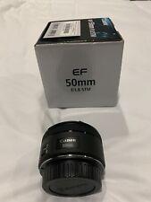Canon EF 50mm F/1.8 STM DSLR Lens - MINT CONDITION!