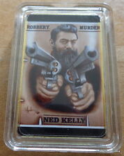 Ned Kelly Australia Robbery & Murder 29.6ml Ml .gold Bañado Barra Moneda