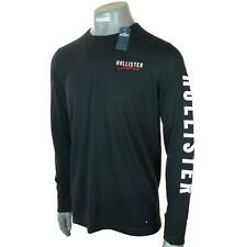 New Men's Authentic Hollister Long Sleeve T Shirt Embroidered Logo Graphic M L