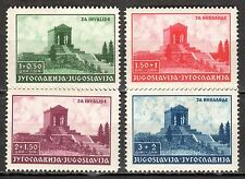 Yugoslavia - 1939 Monument for the unknown soldier - Mi. 389-92 MNH