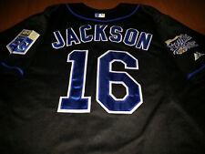 5dc3524bd82 Kansas City Royals  16 Bo Jackson Throwback Jersey black New Tag WS patch  sewn