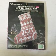 Vogart Joy Stocking Snowflakes Net Darning Christmas Stocking Kit 2945 new