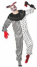 Killer Clown Jumpsuit Twisty Halloween Costume Fancy Dress Costume Black & White