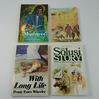 4 Vintage Christianity Books Missionaries Adventures Travel Western SDA