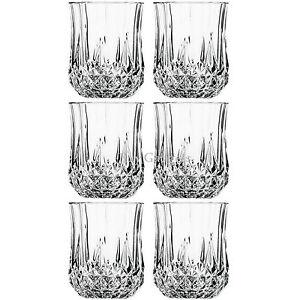 6PCS x 200ML DRINKING GLASSES SET WINE EVENING GLASSWARE JUICE DINING GIFT GLASS
