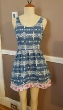 Beautiful Sleeveless Multicolor Dress By TopShop Petites!! Size 4!!