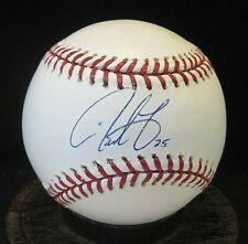 Derrek Lee Signed OML Baseball COA Chicago Cubs, Florida Marlins