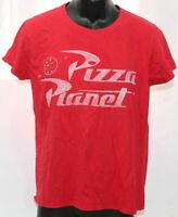Disney Pixar Toy Story Pizza Planet Womens Large Red T Shirt Anvil Lightweight