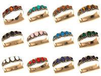 Silver Overlay Free Postage Cuff Handmade Amber Mix Gemstone Jewelry 15Pcs