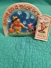 """Midwest Disney Classic Pooh Halloween """"Going On A Trick Or Treat� Candle Holder"""
