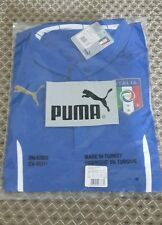 FIGC Italy home football shirt player issue jersey 2014short sleeves Puma size S
