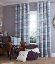 Catherine Lansfield Polycotton Eyelet Top Curtains & Pelmets