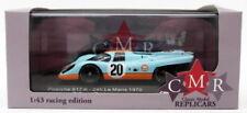 Voitures de courses miniatures bleus avec support Porsche