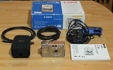 Canon Digital Ixus V3 3.2MP Digital Camera - Accessories - Very Nice - FREEPOST